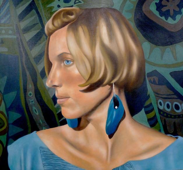 Gabrielle de Glatigny Glaze self-portrait
