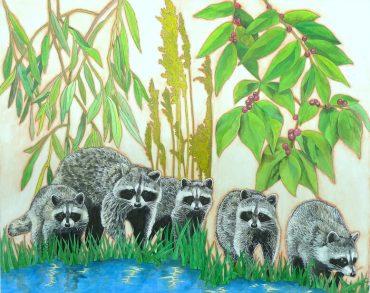 Raccoons - Gabrielle de Glatigny